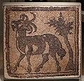 Siria del nord, frammento di mosaico pavimentale con ariete presso un albero, V secolo dc.jpg