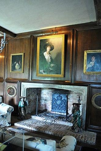 Sissinghurst Castle Garden - Sackville-West's portrait by Philip de László hanging in the Big Room of the West Range