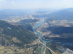 Sisteron - Sisteron from the air