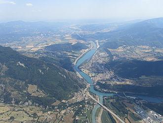 Sisteron - Sisteron from the air