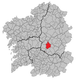 O Saviñao - O Saviñao within Galicia