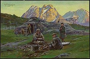 Wilhelm Peters (painter) - Image: Sjøfinner ved Ulfsfjord Coast Sami at Ulfsfjord (27897744961)