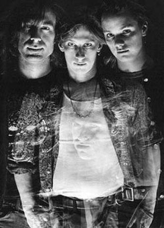 Skin Yard - Publicity photo 1988, ft. Jack Endino, Ben McMillan, and Daniel House