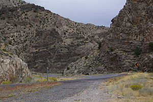 U.S. Route 50 in Utah - US-50 descending from Skull Rock Pass in western Utah