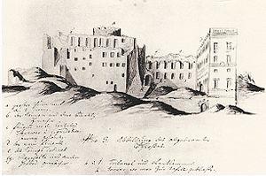 Tre Kronor (castle) - Castle after the fire.