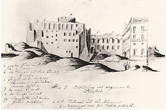 Tre Kronor (castle) - Castle after the fire.