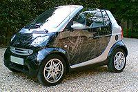 Smart Fortwo Cabrio - Silver and Scratch Black
