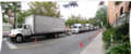 Some trucks lined up to support the filming of the 2010 TV series Nikita -g.tif