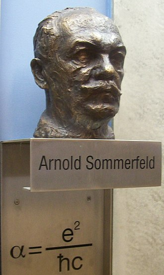 Fine-structure constant - Sommerfeld memorial at University of Munich