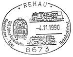 Sonderstempel Rehau 1990 Bahnstrecke.jpg