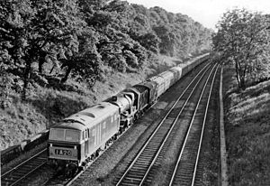 British Rail Class 35 - D7033 piloting ''Abergavenny Castle'' on a South Wales to London service in 1962