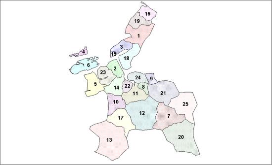 Sor-Trondelag Municipalities