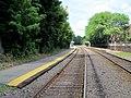 South end of Melrose Cedar Park station platforms, June 2012.JPG