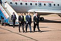 Soyuz MS-06 crew at the airport in Baikonur.jpg