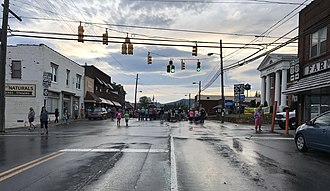 Sparta, North Carolina - Downtown Sparta during a local music event in 2017