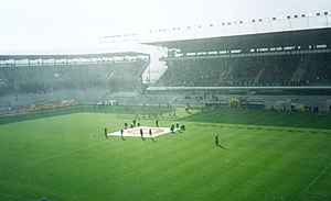 AC Sparta Prague - Interior of Generali Arena at the start of a match, November 2002
