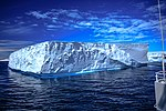 Spectacular Christmas morning cruise through the remants of giant Tabular iceberg B15Y, which is now grounded just off Bransfield Island at the N tip of the Antarctic Peninsula. (25905207991).jpg