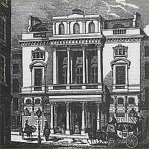 St James's Theatre - Exterior of the theatre in 1836
