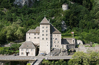 Rudolf of Geneva - The castle of Saint-Maurice as it appears today.