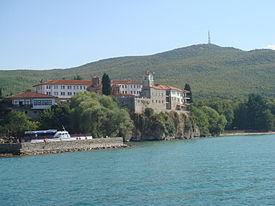 275px-St-Naum-Monastery-from-Lake-Ohrid Всемирното Православие - ЖИТИЕ НА СВЕТИ ПРЕПОДОБНИ НАУМ ОХРИДСКИ