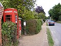 St.James Street Dunwich,Telephone Box and George VI Postbox - geograph.org.uk - 1448801.jpg
