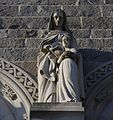 St. Martin de Porres Church (Toledo, OH) - exterior. detail, statue of St. Anne educating the Blessed Virgin Mary.jpg