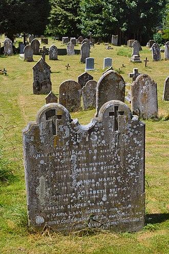 Jonathan Shipley - Grave
