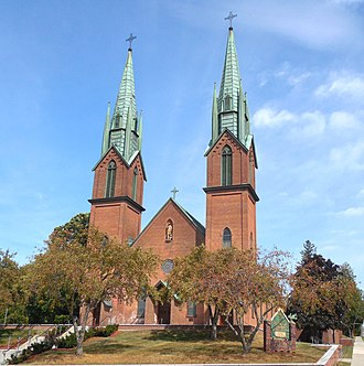 Winooski, Vermont - St. Francis Xavier Church on St. Peter Street
