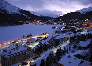 St. Moritz Place in Grisons, Switzerland
