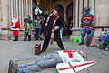 St Albans Mummers production of St George and the Dragon, Boxing Day 2015-6.jpg