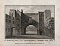 St John's Gate, Clerkenwell, London; the south side. Engravi Wellcome V0013155.jpg