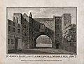 St John's Gate, Clerkenwell, London; the south side. Engravi Wellcome V0013155.jpg