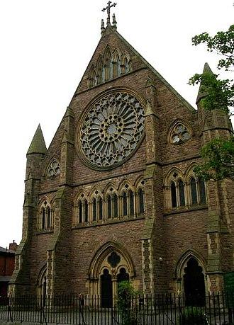 Church of St Walburge, Preston - Western facade of St Walburge's, from Weston Street