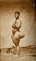Standing woman, (Hottentot), full-length side view Wellcome V0029704.jpg