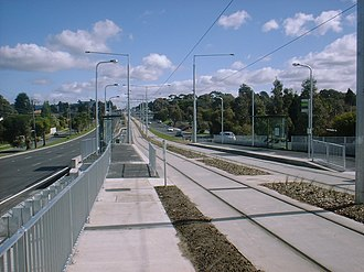 Melbourne tram route 75 - A new accessible stop at Stanley Road