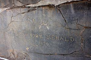 Henry Morton Stanley - Stanley's graffiti at Persepolis, Iran