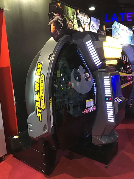 Fichier:Star Wars Battle Pod cabinet - left 3.JPG
