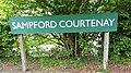 Station sign, Sampford Courtenay station, Dartmoor Railway, Devon.jpg