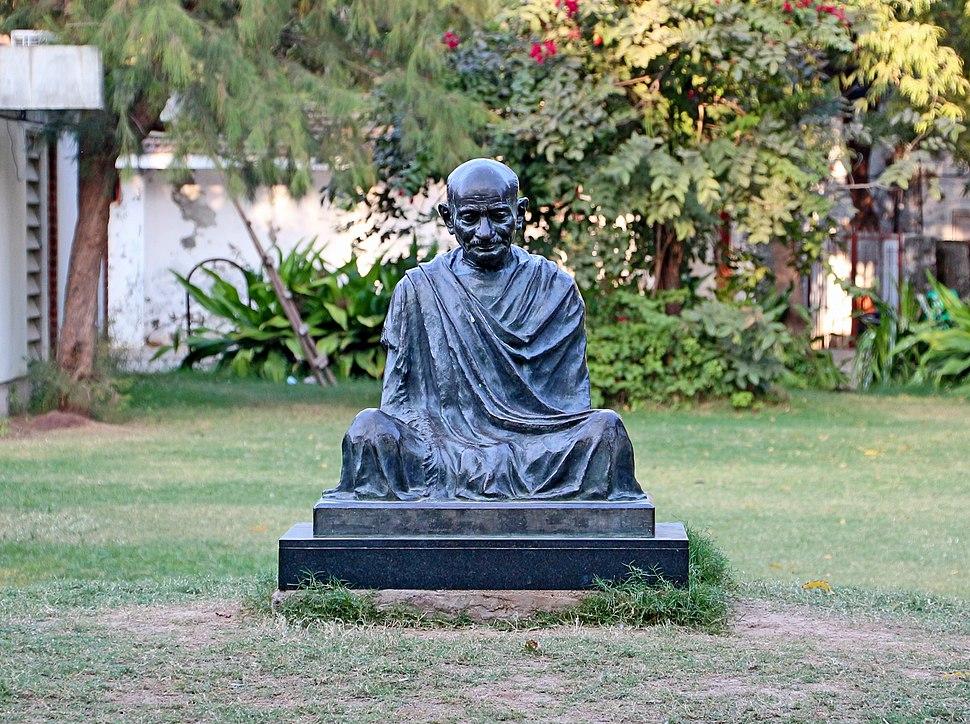 Statue of Gandhi at Sabarmati Ashram
