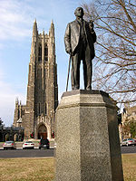 James B. Duke statue at Duke University