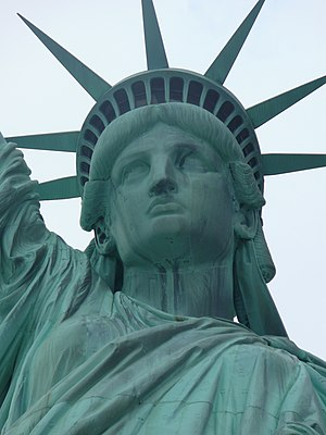 The Statue of Liberty, also known as Lady Libe...