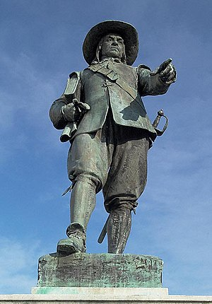 English: Statue of Oliver Cromwell