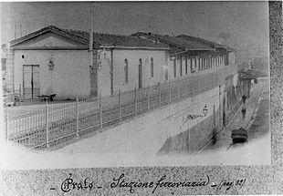 La stazione di Prato Porta al Serraglio a fine '800