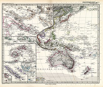 Anson Archipelago - Image: Stielers Handatlas 1891 75