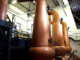 Tobermory distillery - Stills at the Tobermory distillery