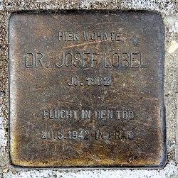 Photo of Josef Löbel brass plaque