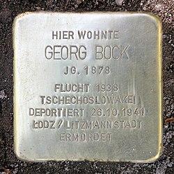 Photo of Georg Bock brass plaque