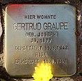 Stolperstein Rudolstädter Str 93 (Wilmd) Gertrud Graupe.jpg