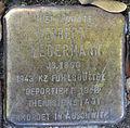 Stolperstein Sierichstraße 66 (Herbert Ledermann) in Hamburg-Winterhude.JPG
