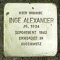 Stolperstein Verden - Inge Alexander (1924).jpg